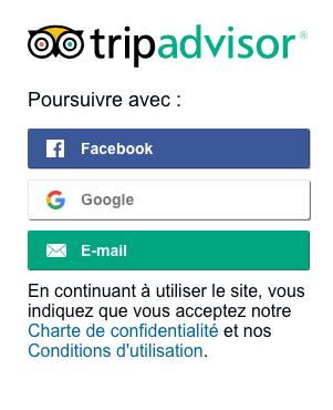 se connecter au compte TripAdvisor