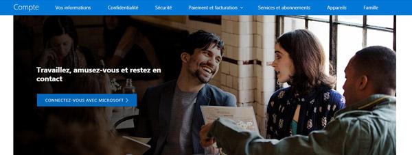 créer votre compte Microsoft
