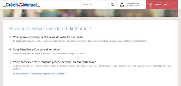ouvrir un compte bancaire crédit mutuel