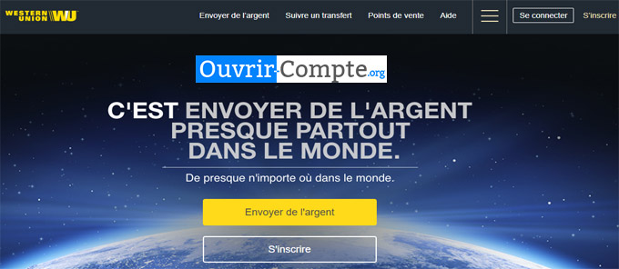 Ouvrir compte western union