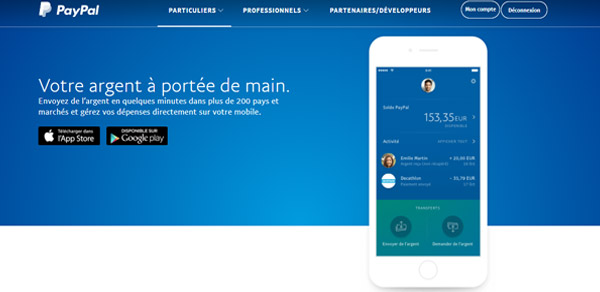 Application Paypal Mobile
