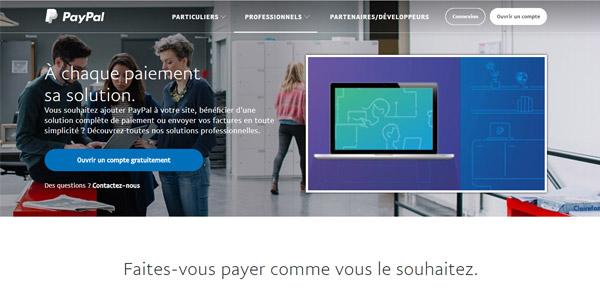 accès au site Paypal