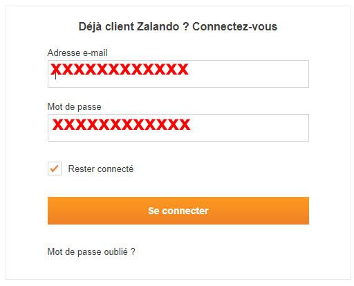 connexion zalando