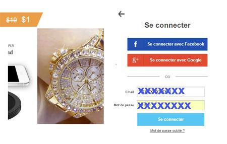 connexion au compte wish