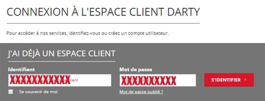 connexion espace client