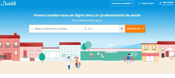 acces au site doctolib.fr