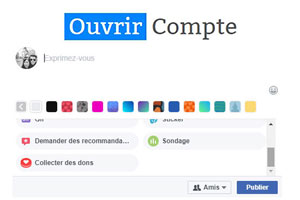 créer sondage sur Facebook