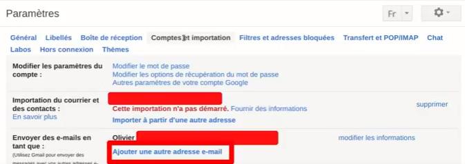 ajouter une autre adresse gmail