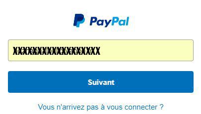 Connexion paypal particulier