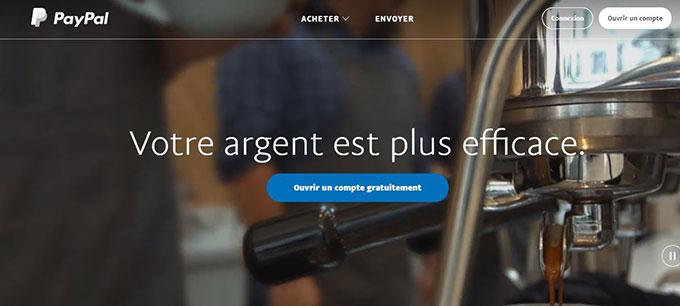 service paiement en ligne paypal