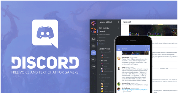 Application mobile Discord