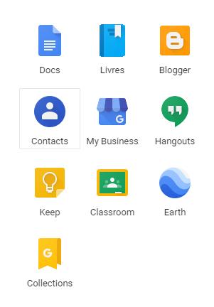 créer groupe de contacts gmail