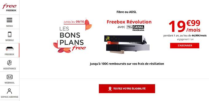 fournisseur internet free