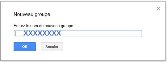 nouveau groupe Gmail