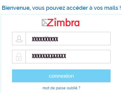 connexion zimbra free mail