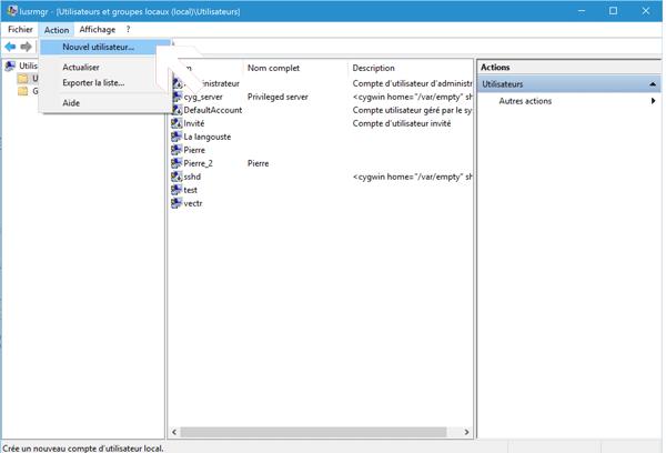 Ajouter un utilisateur sur Windows 10