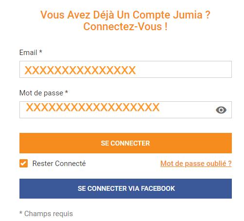 se connecter au compte jumia.ci