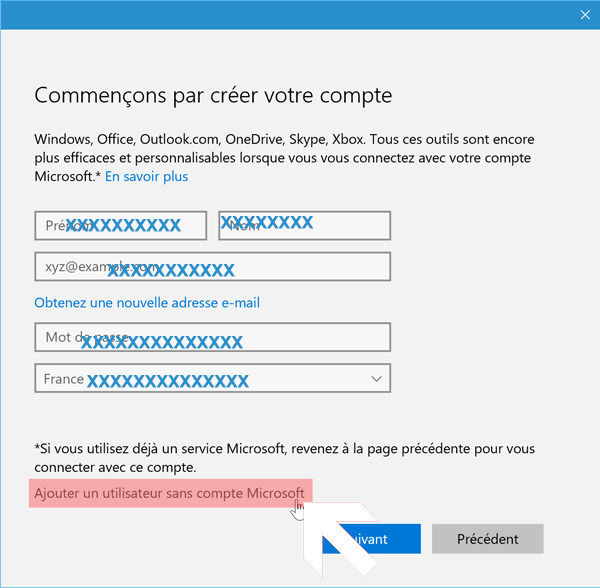 Créer profil utilisateur Windows 10