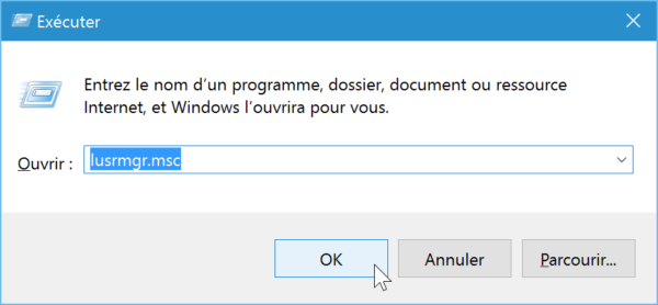 Créer un compte utilisateur local sur Windows 10