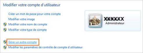 Gérer un compte utilisateur sous windows 7