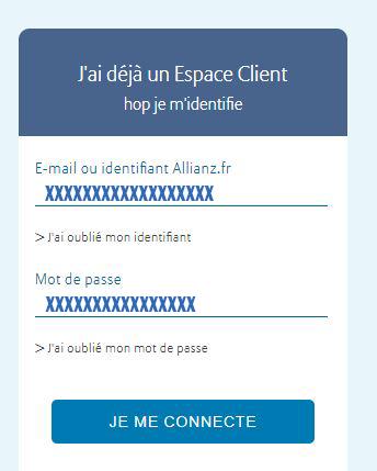Connexion espace client Allianz