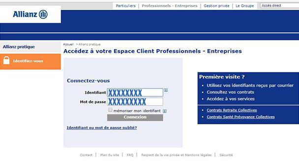Espace client Allianz pro