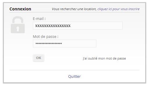 s'authentifier àmon espace annonceur papvacances.fr