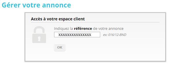 gérer une annonce sur Papvacances.fr