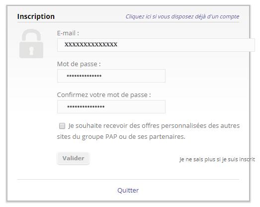 s'inscrire à l'espace annonceur papvacances.fr
