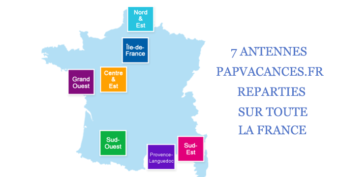 les septs antennes de Papvacances.fr
