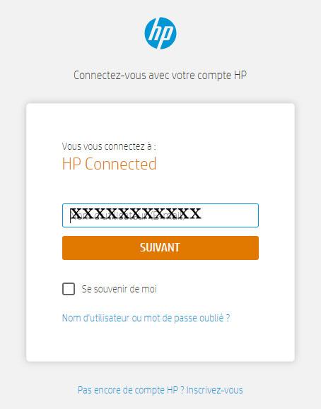 hpconnected connexion