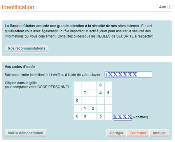 Banque chalus identification