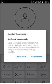 Accéder à vos contacts sur instagram