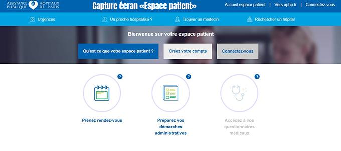 espace patient aphp
