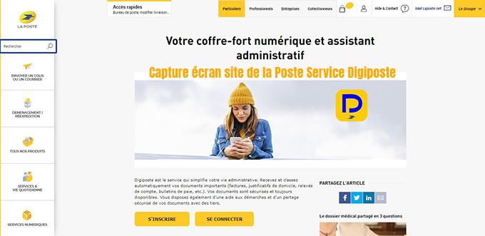 coffre fort numerique la poste France