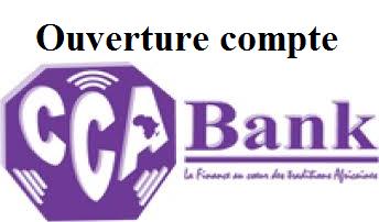 CCA Cameroun ouverture compte