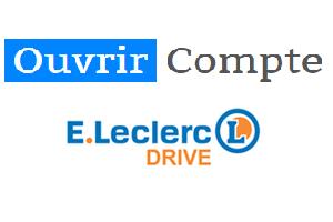créer compte leclerc drive