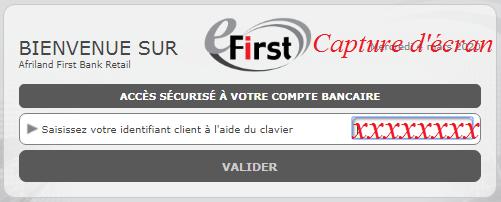 e-first bank login