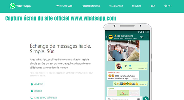 site officiel whatsapp