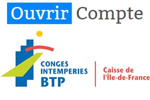 Ouvrir compte cibtp-idf.fr