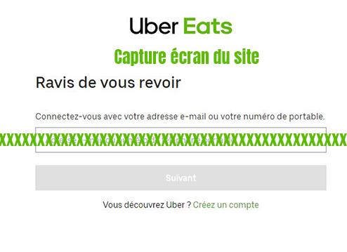 se connecter compte uber eats
