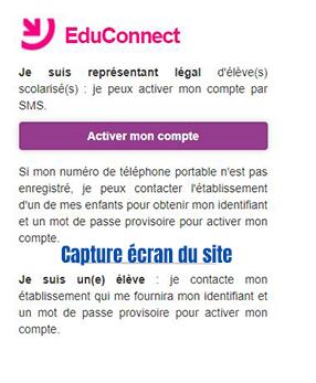 creation compte educonnect