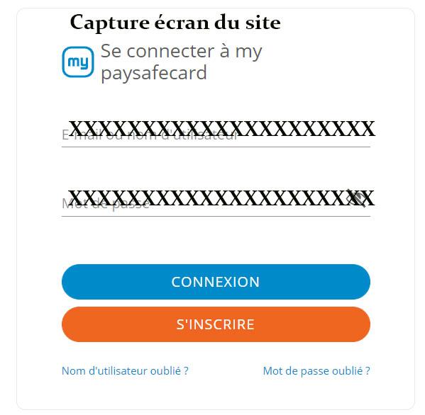 Paysafecard connexion
