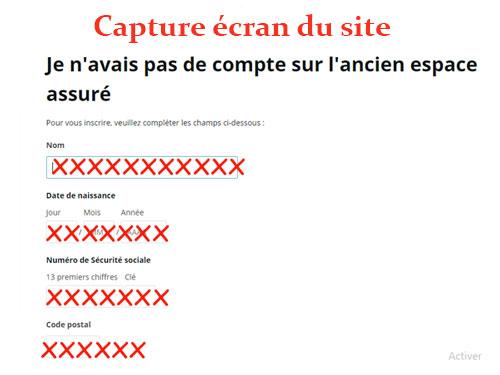 Création compte ca-masante.fr